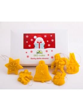 Žaisliukai Kalėdų eglutei (6 vnt)