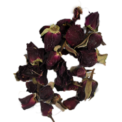 Tamsūs rožių pumpurai