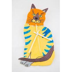Laikrodžio ciferblatas - katė